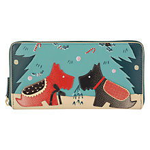 Buy Radley Under the Mistletoe Matinée Purse, Green Online at johnlewis.com