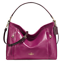 Buy Coach Scout Leather Hobo Bag, Purple Online at johnlewis.com