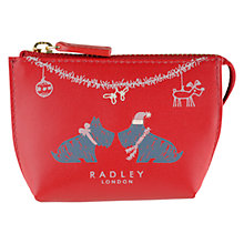 Buy Radley Small Christmas Kiss Coin Purse, Red Online at johnlewis.com