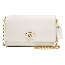 Buy Coach Crosstown Leather Across Body Bag, White Online at johnlewis.com