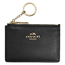 Buy Coach Mini Skinny Leather ID Wallet, Black Online at johnlewis.com