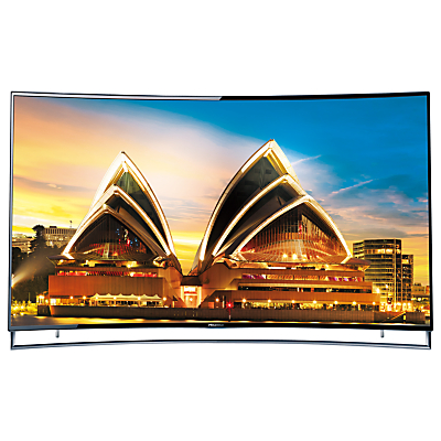 "Hisense 65XT910 Curved 4K ULED 3D Smart TV, 65"" with Freeview HD and Built-In Wi-Fi"
