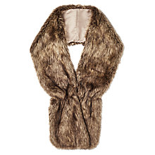 Buy Phase Eight Beatrix Faux Fur Collar, Taupe Online at johnlewis.com