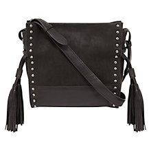Buy Mint Velvet Skye Tassel Cross Bag, Black Online at johnlewis.com