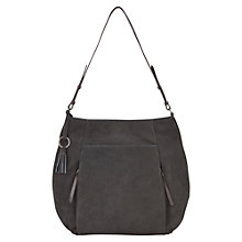 Buy Mint Velvet Libby Leather Tote Bag, Charcoal Online at johnlewis.com