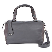 Buy Mint Velvet Elena Slouch Bag, Grey Online at johnlewis.com