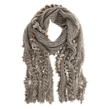 Buy Mint Velvet Faux Fur Scarf, Grey Online at johnlewis.com