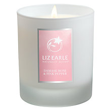 Buy Liz Earle Damask Rose & Pink Pepper Candle Online at johnlewis.com