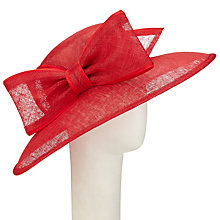 Buy John Lewis Darcie Bow Detail Occasion Hat, Red Online at johnlewis.com