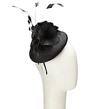 Buy John Lewis Clare Pillbox and Flower Fascinator, Black Online at johnlewis.com
