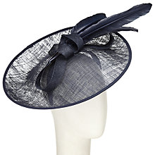 Buy John Lewis Jena Upturn Disc Occasion Hat, Navy Online at johnlewis.com