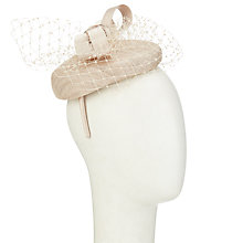 Buy John Lewis Louise Pillbox Veil Occasion Hat, Champagne Online at johnlewis.com