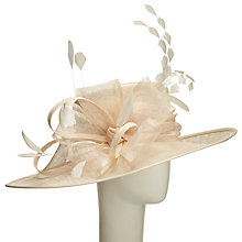 Buy John Lewis Jue Slanted Bow Detail Occasion Hat, Champagne Online at johnlewis.com