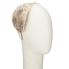 Buy John Lewis Emma Feather and Lace Trail Fascinator, Natural Online at johnlewis.com