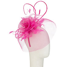 Buy John Lewis Crin Diamante Fascinator, Fuchsia Online at johnlewis.com
