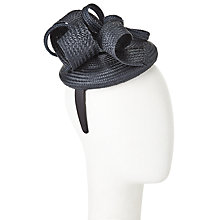 Buy John Lewis Anna Twisted Straw Fascinator, Black Online at johnlewis.com