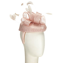 Buy John Lewis Anita Pillbox Feather and Loop Occasion Hat, Latte Online at johnlewis.com