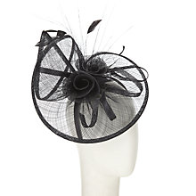 Buy John Lewis Elle Large Fascinator, Black Online at johnlewis.com