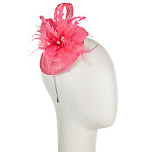 Buy John Lewis Sinamay Loop Diamante Fascinator, Fuchsia Online at johnlewis.com
