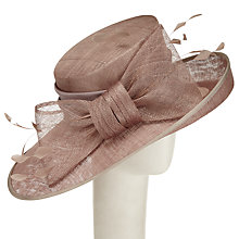 Buy John Lewis Liz Side Up Bow Detail Occasion Hat, Taupe Online at johnlewis.com