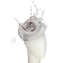 Buy John Lewis Jeni Mini Disc Occasion Hat, Silver Online at johnlewis.com