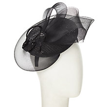 Buy John Lewis Brit Sequin and Crin Occasion Hat, Black Online at johnlewis.com