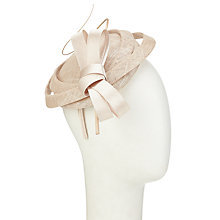 Buy John Lewis Tasha Looped Fascinator, Champagne Online at johnlewis.com
