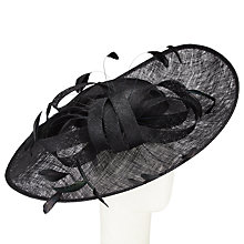 Buy John Lewis Nina Medium Side Up Disc Occasion Hat, Black Online at johnlewis.com