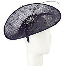Buy John Lewis Tia Diamante Disc Occasion Hat, Navy Online at johnlewis.com