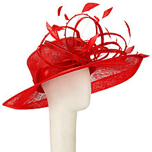 Buy John Lewis Cara Diamante Loop Occasion Hat, Red Online at johnlewis.com