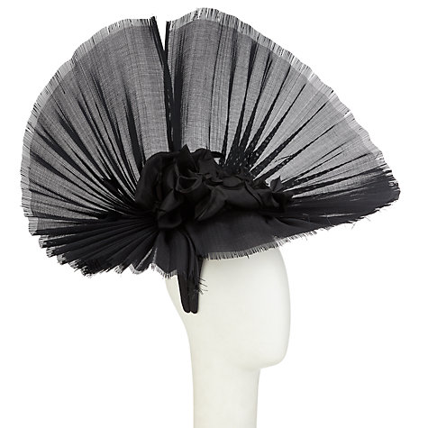 Buy Snoxells Ansel Large Fan Occasion Hat, Black Online at johnlewis.com