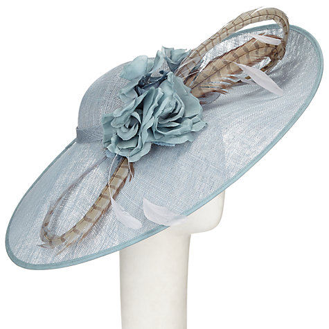 Buy Vixen Millinery Mila Disc Flower and Feather Occasion Hat Online at johnlewis.com