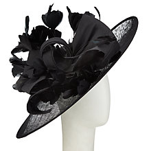 Buy Snoxells Charlotte Disc and Bow Occasion Hat, Black Online at johnlewis.com
