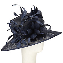 Buy John Lewis Tanya Feathers Occasion Hat, Navy Online at johnlewis.com