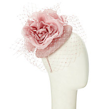 Buy John Lewis Beth Pillbox and Veil Flower Fascinator, Pastel Pink Online at johnlewis.com
