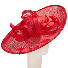 Buy John Lewis Nina Medium Side Up Disc Occasion Hat, Red Online at johnlewis.com