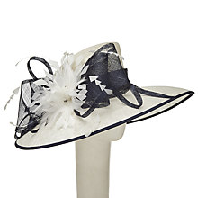 Buy John Lewis Cayla Feathers Occasion Hat, Navy/Ivory Online at johnlewis.com
