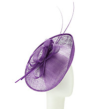Buy John Lewis Sue Disc Loops Occasion Hat, Purple Online at johnlewis.com