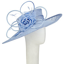 Buy John Lewis Thea Slanted Brim Occasion Hat, Bluebell Blue Online at johnlewis.com