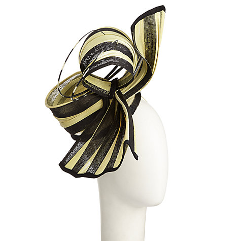 Buy Snoxells Camilla Twisted Straw Occasion Hat, Ochre/Black Online at johnlewis.com