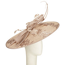 Buy Peter Bettley Large Disc Sequin and Lace Occasion Hat, Oyster Online at johnlewis.com