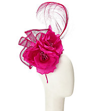 Buy John Lewis Rei Pillbox and Feather Fascinator, Fuchsia Online at johnlewis.com