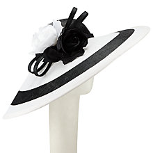 Buy Whiteley Laura Flower Detail Occasion Hat, Black/White Online at johnlewis.com
