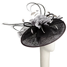 Buy Snoxells Meg Updisc and Crin Occasion Hat, Black/Grey Online at johnlewis.com