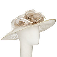 Buy Vivien Sheriff Tanya Flower Occasion Hat, Soft Gold Online at johnlewis.com