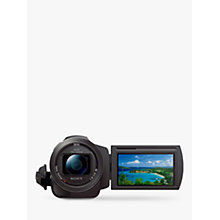 "Buy Sony FDR-AX33 Handycam with 4K Ultra-HD, Balanced Optical SteadyShot, 20.6MP, 10x Optical Zoom, NFC, Wi-Fi, 3"" WhiteMagic LCD Screen, Black Online at johnlewis.com"