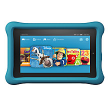 "Buy New Amazon Fire Kids Edition 7 Tablet, Quad-core, Fire OS, 7"", Wi-Fi, 8GB Online at johnlewis.com"