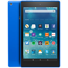 "Buy New Amazon Fire HD 8 Tablet, Quad-core, Fire OS, 8"", Wi-Fi, 16GB Online at johnlewis.com"