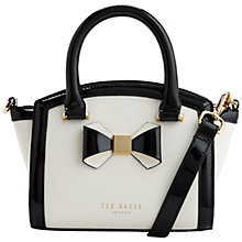 Buy Ted Baker Deliyah Leather Mini Bow Tote Online at johnlewis.com