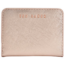 Buy Ted Baker Aimo Small Leather Purse, Rose Gold Online at johnlewis.com